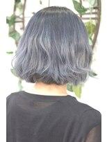 ヘアーサロン エール 原宿(hair salon ailes)(ailes 原宿)style368 デザインカラー☆ダークブルーシルバー