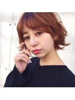 レジーロ (Regilo)「Regilo表参道」オレンジブラウン×レイヤー外ハネボブ★
