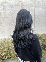 *ブリーチなし暗髪地毛風透明感ブルーグレーアッシュグレー