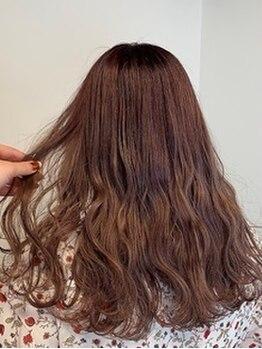 ポルト(porto produced by teatro hair salon)の写真/【博多山王☆】色持ち&ダメージレスなアドミオカラーで透明感を♪低刺激カラーで内部から美しい髪へ♪