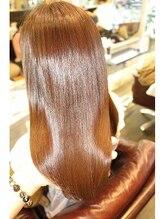 シェープカラーので収まりの良い髪質に