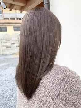 セル(CELL)の写真/【嬉しいトリートメント付き!!】うねり・くせ等のお悩み解決♪不自然じゃないナチュラル美髪ストレートへ◎