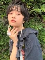 ラパンセブルー(LA PENSEE BLEU)【LA PENSEE】ハンサム ショートパーマ モード 黒髪