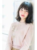 リル ヘアーデザイン(Rire hair design)【Rire-リル銀座-】小顔バング☆ふわボブ