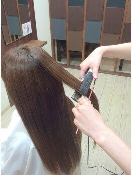 美容室 アンテナ オンワード店(ANTENNA)の写真/くせ毛やうねりに悩む方にオススメ!艶&さらさらがキープ◎扱いやすい万能なヘアに…♪