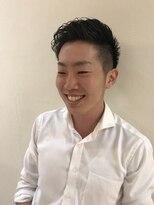 イーエル 近鉄パッセ店(e.ll)爽やかオールバック前髪流し【名駅】アップバング(メンズ)