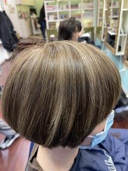 ヘアメイク ユーユ(Hair make U YU)の写真/【駅近/火曜営業/19時受付OK】明るくできるオシャレな白髪染めが叶う☆ワンランク上のカラー技術に感動♪