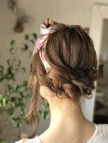 ルーナ ヘアラウンジ(Luuna hair lounge)スカーフアレンジ