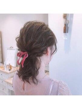 ヘアーアンドメイク キュアー(hair&make cure)お呼ばれhair*