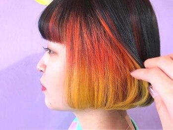 ヘアサロン トミー(Hair salon TOMMY)の写真/インナーカラー、ハイライト、ツートンカラーなど個性派Styleも低価格で!お得に大変身♪