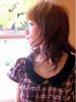 ヘアースペース スカイ(Hair Space SKY)の写真/カット+パーマ¥6800!定評のある技術と豊富な知識で貴方に似合うパーマをスタイリング★朝の時短にも◎