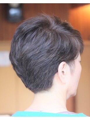 グレイヘア 髪型