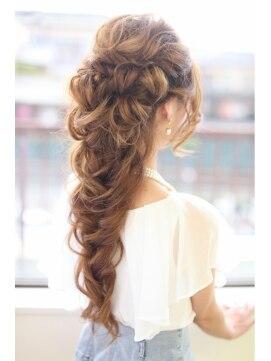 結婚式の髪型 ヘアアレンジ  fairy tail