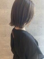 ブリック ヘアアンドスパ 松山(BRICK HAIR&SPA)切りっぱなし×透明感カラー