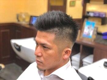 キングズバーバーショップ ツービッツ(King's Barbershop 2-bits)の写真/StylingしなくてもOK、すれば更に良くなる理想のStyle。<男性Cut+うなじ剃り+頭皮ケアShampoo 新規¥2800>