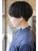 【+~ing 】厚めバング黒髪ベリーショート裾刈り【柳沼くるみ】
