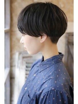 カライング(ing)【+~ing 】厚めバング黒髪ベリーショート裾刈り【柳沼くるみ】