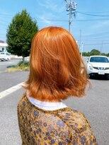 エトワール(Etoile HAIR SALON)ブリーチなし オレンジカラー