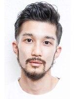 【西宮初かりあげ専門店☆】フェードバーバー七三分け短髪パーマ