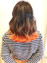 ヘアーリゾートラシックアールプラス(hair resort lachiq R+)《R+》裾カラー×バレンシアオレンジ