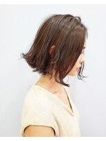 エイム ヘアメイク 横川店(eim HAIR MAKE)ナチュラルベージュがかわいい☆ソフト切りっぱボブ