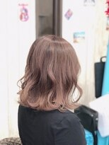 カイナル 関内店(hair design kainalu by kahuna)バレイヤージュ×ペールピンク