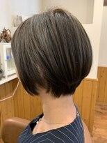 テトラ ヘアー(TETRA hair)ショート×アッシュグレー
