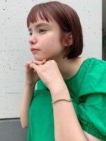 メーヴェ(Mowen)mowen×切りっぱなし×韓国風カラー×オレンジベージュ
