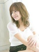 ヘアアンドメイク アリス(hair&make ALICE produce by COLT)大人ミディアムstyle&オーシャンベージュ