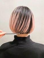 テトヘアー(teto hair)ペールピンク・グラデーション・トリプルカラー・ミニボブ