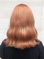ヘアー アイス ルーチェ(HAIR ICI LUCE)オレンジカラー、ペールカラー、ブリーチ 担当中西