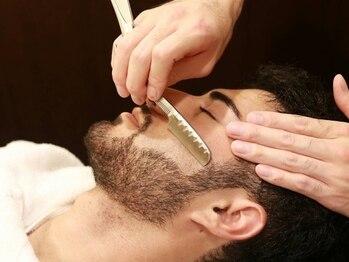ヘアーサロン キンザマツナガ 築地店(Hair Salon GINZA MATUNAGA)の写真/【上質な理容室♪】人気の[シェービングサービス]眉毛も自然で美しく。洗練された理容技術をお試し下さい!