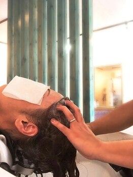 ヘアー 志希の写真/髪の毛の素の状態を作り健康的な髪と頭皮に★カラーの頻度が多い方にも◎美容院帰りの手触りが持続します♪