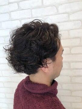 ビス ヘア アンド ビューティー 西新井店(Vis Hair&Beauty)アップバングスパイラルパーマビジカジくせ毛風パーマ