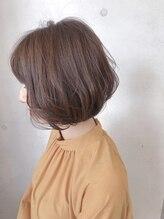 ヘアーサロン リベルテ 上本町店(hair salon Liberte)ボブ×ベージュ艶カラー