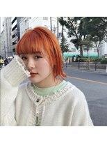 チカシツ(Chikashitsu)orange beige bob