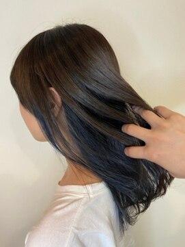 リミックス 飯塚店(Remix)大人インナーカラーブルー