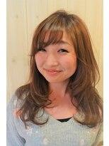 ヘアドレッサー ミアン(HAIRDRESSER MIEN)ミディアムレイヤー+ワンメイクカラー【稲毛】