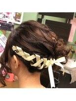 ヘアセットサロン アトリエ チャイ(Hair set salon atelier CHAI)リボン編み込み