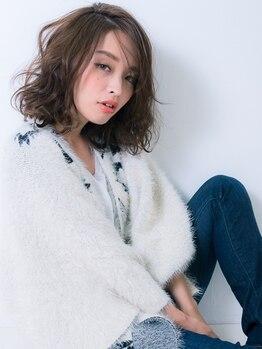 カーラヘアー(Cara-hair)の写真/【2周年♪/茨木市駅】透明感のあるカラーが大人気!オーガニックカラーで色持ち・潤いも続く…