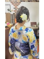 サロンド クラフト(salon de craft)【浴衣】キュートなキャンディー帯結びアレンジ♪