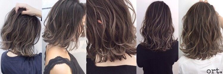 ヘア アトリエ オルト(hair atelier ort.a)のサロンヘッダー
