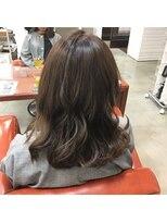 ヘアー コパイン(HAIR COPAIN)[熊本/中央区/上通り/並木坂] ゆるふわオリーブベージュカラー