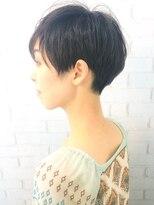 【morio池袋】大人かわいいツーブロック 黒髪ベリーショート