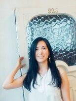 ヘアーワークスミスト 池袋店(Hair Works MIST)黒髪風スモーキーアッシュ☆美艶ストレート 《ミスト池袋》