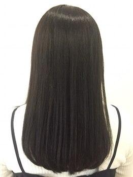 ソラ ヘアーメイク(SORA HAIR MAKE)の写真/今まで体感したことない仕上がりに感動!ダメージレスな縮毛◎毛先までしっとりなナチュラルストレート♪