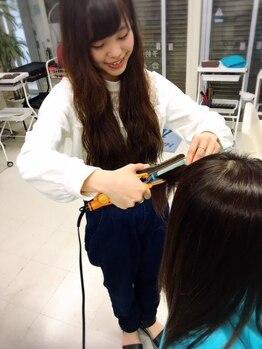 ヘアープロデュース エムズ(HAIR PRODUCE M's)の写真/【キラ髪ストレートで自然で柔らかいストレート】ダメージを改善しながらお悩み解決!憧れのウルツヤ髪に☆
