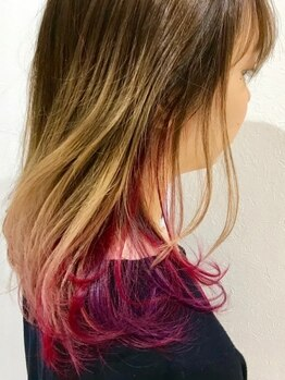 ラズ(Laz hair)の写真/発色◎色味◎のカラーを1人ひとりに合わせて調合*顔周りがパッと華やかに-肌の透明感が引き立つと大好評!