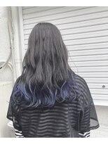ドォート(Dote hair make)【林's】裾カラーBlue ハイライトカラー セミウェットウェーブ