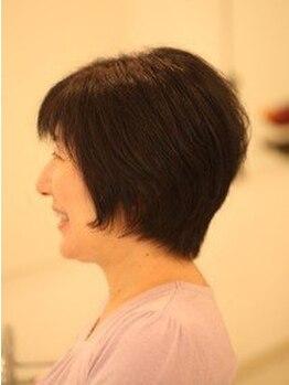 ニジュウサンヘアー(23HAIR)の写真/しっかりカウンセリングをするから白髪染めでも思い通りに仕上がる♪上質なツヤやかなカラーを実現☆